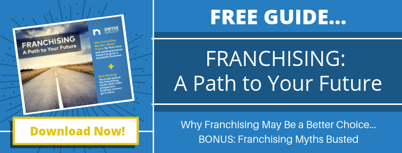 Free guide....Franchising A Path to your future. Why franchising may me a better choice. Bonus: franchising myths busted. Download now!